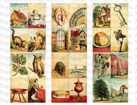 printable vintage alphabet cards vintage alphabet cards digital download collage sheet