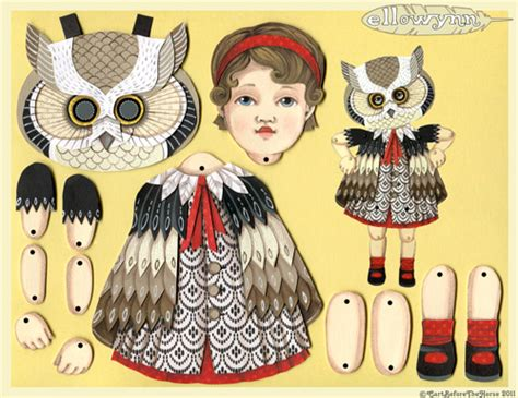 free printable jointed paper dolls my owl barn jo james paper doll with owl mask