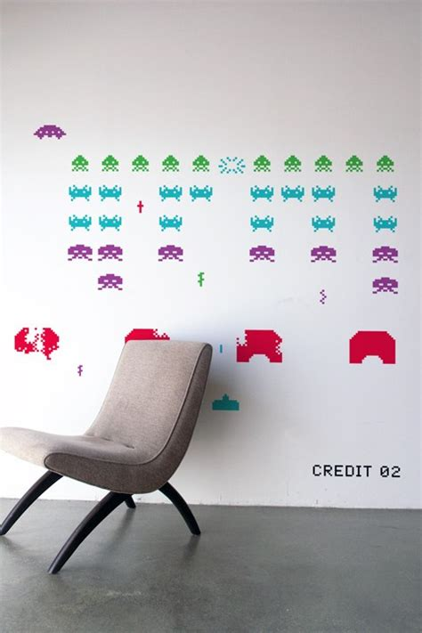 space invaders wall stickers space invaders wall decals nerdy with children