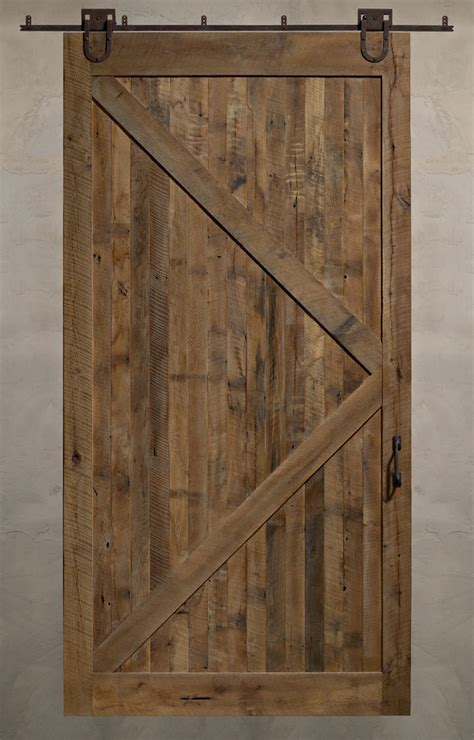 reclaimed sliding barn doors a solid design statement evolutions