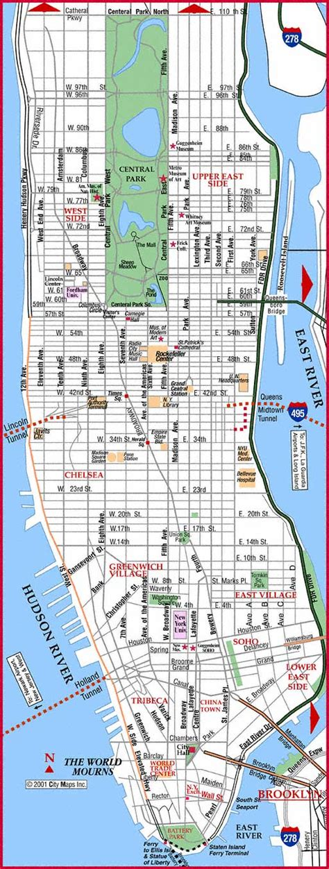 sections of manhattan manhattan neighborhoods map