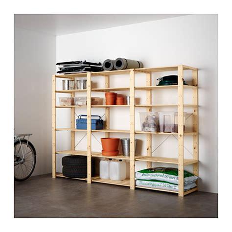 Rak Hyllis Ikea hejne 3 sections shelves ikea