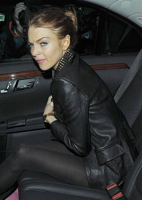 Lindsay Lohan Likes To A Lot by Lindsay Lohan Exiting Cuckoo Club In It Seems She
