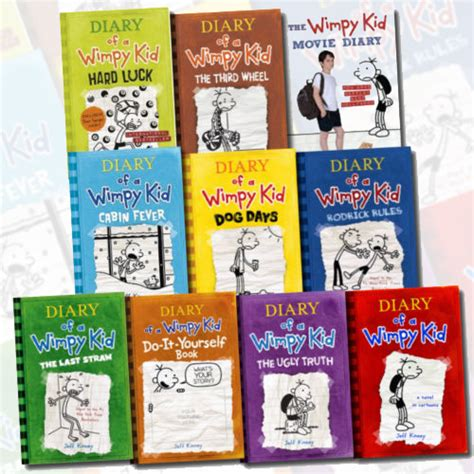 Diary Of A Wimpy Kid Collection 10 Book Set By Jeff Kinney