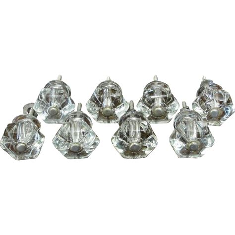 Clear Drawer Knobs by Vintage Clear Glass Cabinet Drawer Knobs From