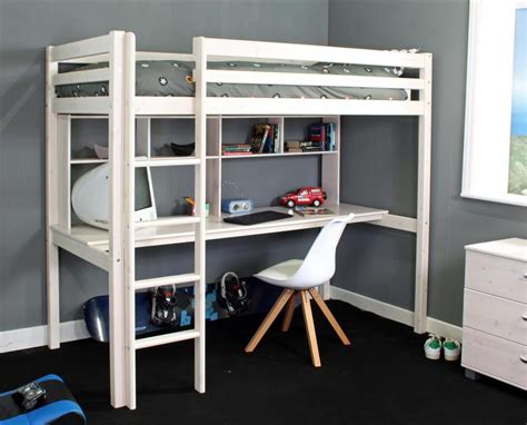high loft bed with desk high sleeper bunk beds