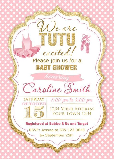 Baby Shower Invitation Templates Tutu Baby Shower Invitations Easytygermke Com Invitation Ballerina Baby Shower Invitation Templates