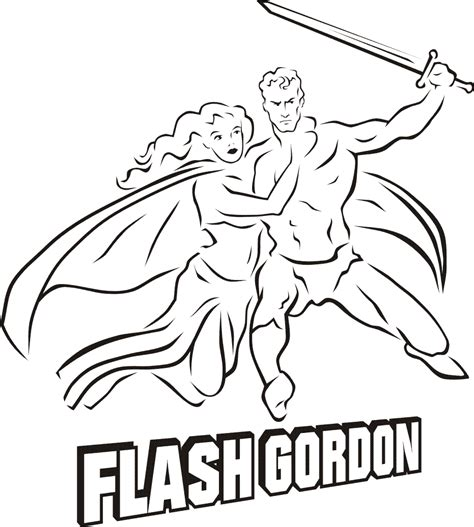 Flash Gordon Coloring Pages free coloring pages