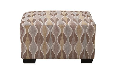 Multi Circular Patterned Ottoman By Poundex F7974