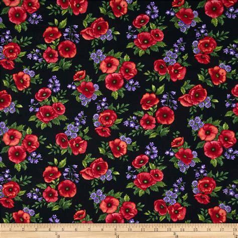 pattern for fabric poppy poppy panache bouquet black multi discount designer