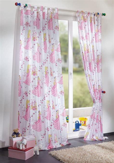 gardinen aus danemark kinderzimmer gardine schlaufenschal prinzessin motiv in