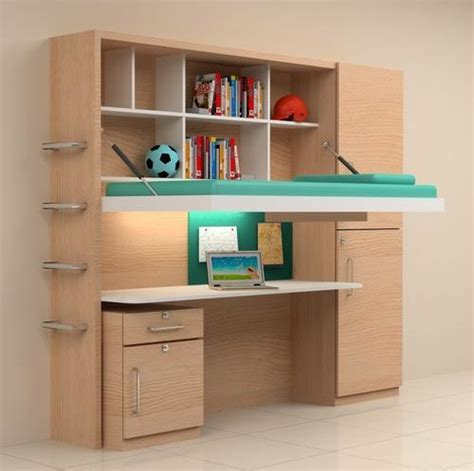 Study Table by Foldable Bed With Storage And Study Table Shankheshwar