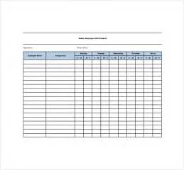 Blank schedule template 13 free word excel pdf format download