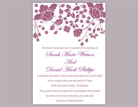 free editable wedding invitation cards templates diy wedding invitation template editable word file instant