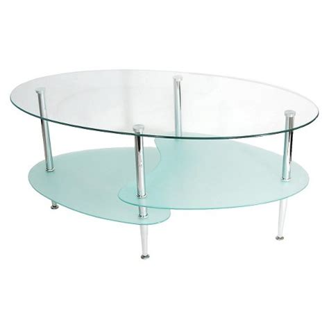 Glass Coffee Table Target Oval Glass Coffee Table Clear Frosted Walker E Target