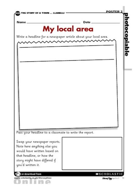 my story template my local area writing news stories free primary ks2