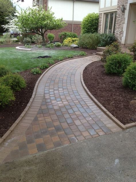 paver walkways traditional landscape detroit by apex landscape and brick services llc