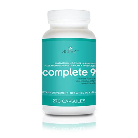 supplement 9 month activz complete 9 9 a day plus 270 capsules one month