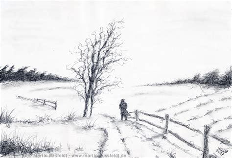 pencil drawings winter landscape pencil drawing my
