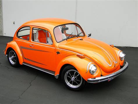 orange volkswagen beetle 1972 volkswagen beetle sedan 96385
