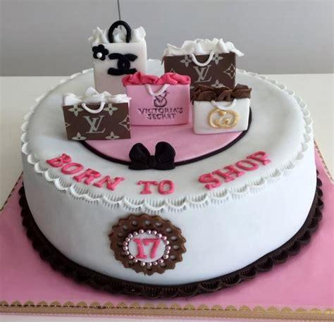 Girl's Shopping Theme 17th Birthday Cake with Coach Luis