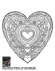 coloring pages for adults hearts hearts flowers and butterflies complicated coloring free