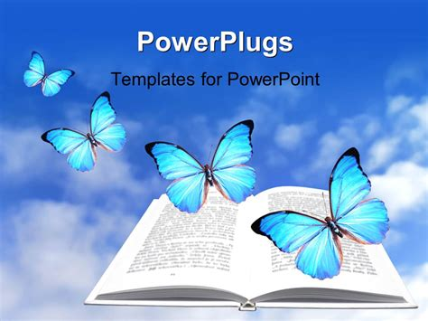 ppt templates free download butterfly powerpoint template a book and a number of butterflies