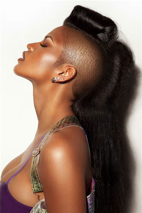 stright back long mohokes mohawk hairstyles for black women both short and long