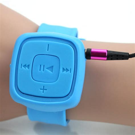 2016 Portable Sport Mini wrist Mp3 Player no screen Bracelet Mp3 Music Player With Micro TF Card