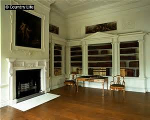 the library at osterley park. the panels inset above the