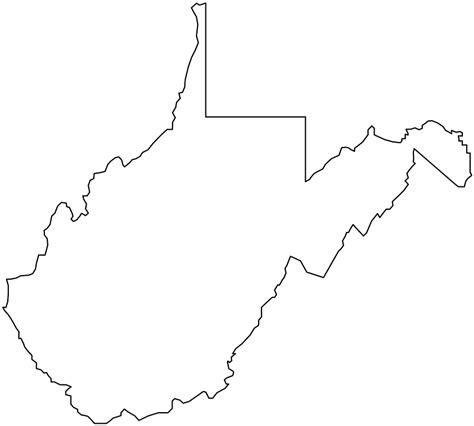 west virginia west virginia map silhouette free vector silhouettes