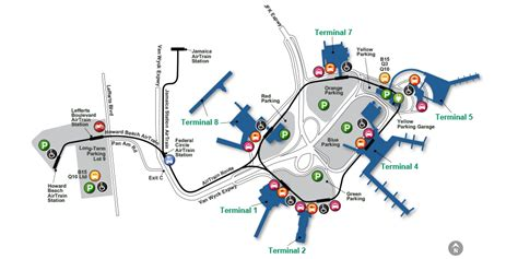 airport map airport map airport guide jfk international airport port authority of new york new jersey