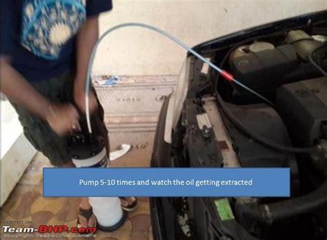 diy mercedes  oil change pela  engine oil extractor team bhp