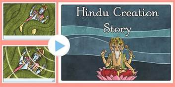 creation story for book hindu creation story powerpoint hindu mythology resources