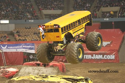 what time is the monster truck show monster trucks at monster jam stowed stuff