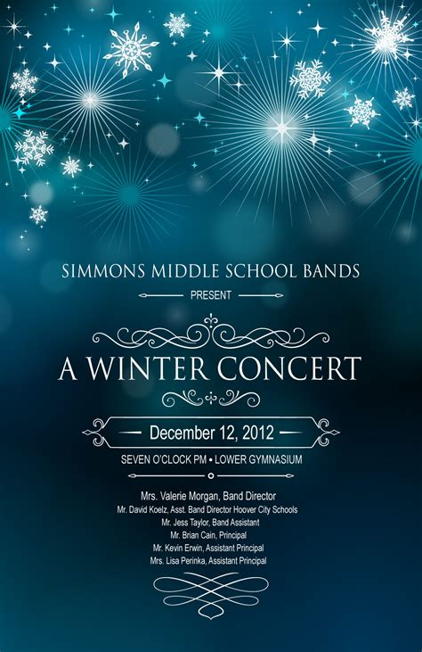 Simmons Band Winter Concert Program Winter Program Template