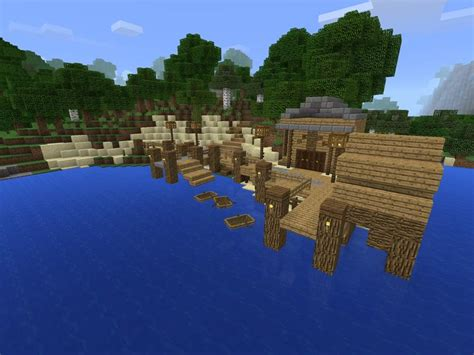 boat dock in minecraft docks minecraft amino
