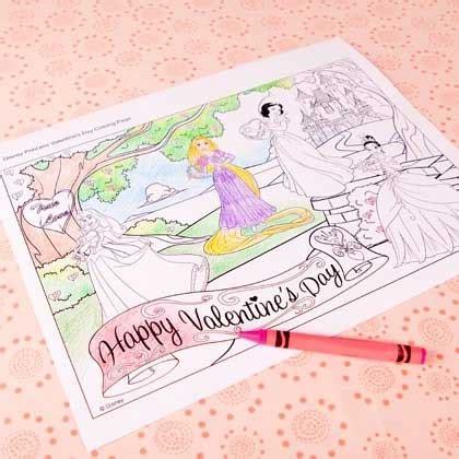 Disney Princess Valentine S Day Coloring Page Disney Family Disney Princess Valentines Coloring Pages Printable