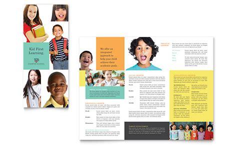 charter school template charter school tri fold brochure template design