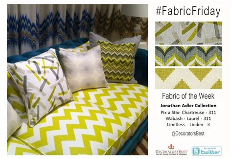 Happy Friday Narrative On Fabric by Fabric Friday Jonathan Adler Prints Decoratorsbest