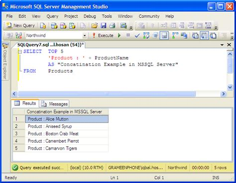 microsoft query tutorial sql exles character strings mssql server tutorial