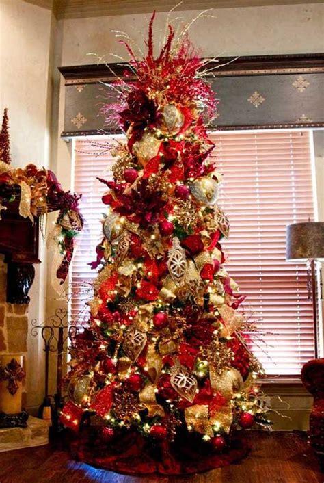 christmas tree decorating  mesh ribbons christmas