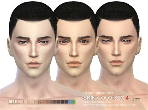sims 3 default replacement skin the sims resource s club wm skin cas colors x 4 default