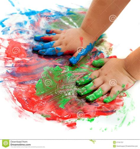 baby painting free baby painting royalty free stock photography