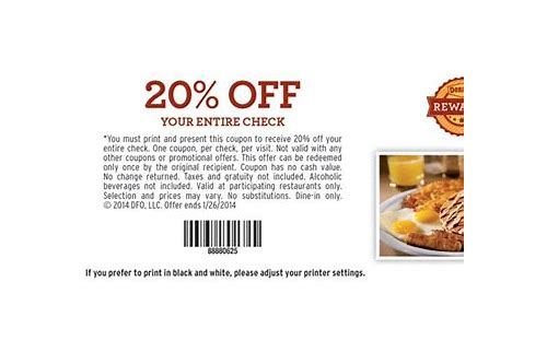 coupons for denny's 20 off