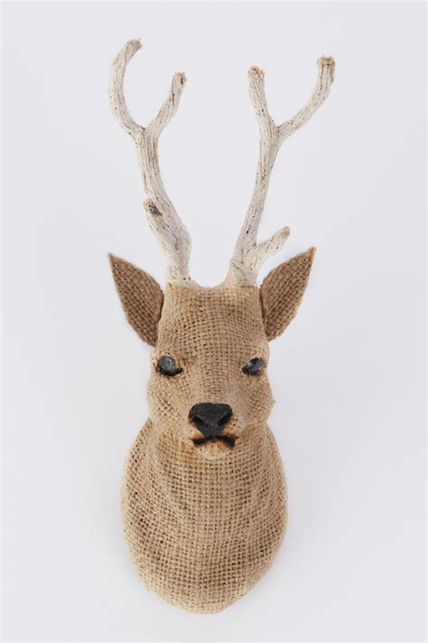 the lilystone burlap deer head from wisconsin shoptiques