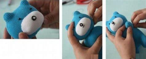 Boneka Peekaboo diy teddy from a sock kidsomania