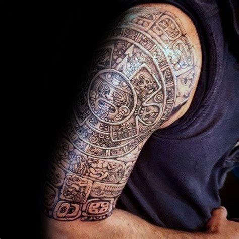 mayan tribal tattoo designs half sleeve mayan deisgn inspiration
