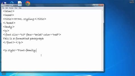 html tutorial text color how to change color font and size of a text in html