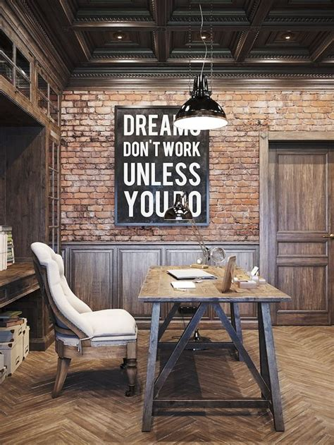 home office designs  exposed brick walls digsdigs